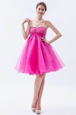 Allure Mini Fuchsia Graduation Dress For Girl Wear