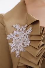 Modern Dark Golden Mother Of The Bride Dress And Jacket