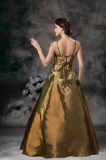 Classical Style Olive Brown Square Evening Dress Texas