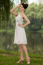 Affordable One Shoulder Homecoming Grey Chiffon Dress