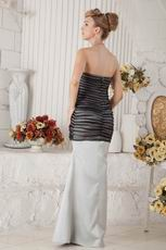 Discount Black Organza Covered Mermaid Gray Long Prom Dress Selling