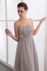 Top Seller Chapel Train Dark Gray Chiffon Formal Celebrity Dress
