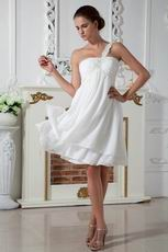 Young Girl Lovely One Shoulder Dress For Bridesmaid
