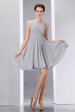 Simple Scoop Light Gray Short Graduation Dress Under $100