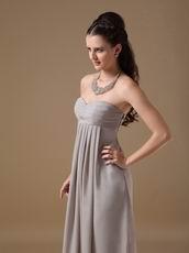 Grey Long Chiffon Skirt Bridesmaid Dress Under $100