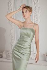 Spaghetti Straps Celadon Greyish-Green Stain Prom Dresses Pretty