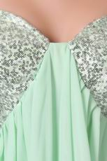 Cheap Pale Green Sequin Fabric High School Sweet 16 Dress