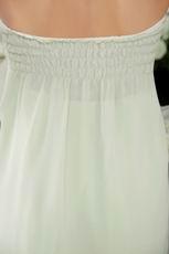 Strapless Knee-length Apple Green Chiffon Bridesmaid Dress