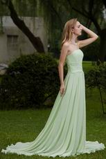 Strapless Apple Green Chiffon Bridal Party Dress Designers List