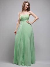 Apple Green Chiffon Exclusive Prom Dress Inexpensive
