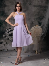 Lavender Chiffon Cross Back Homecoming Dress For Juniors Summer