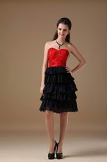 Black Layers Skirt Multi Color Homecoming Dress By Designer