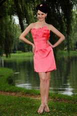 Cheap Pleated Pink Homecoming Short Dress Under 100