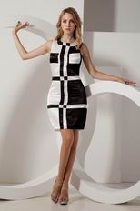 Fashion Scoop Black And White Quality Homecoming Dress