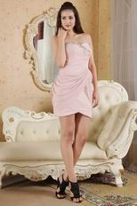 2014 Modern Sweetheart Pink Homecoming Mini Dress