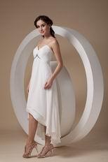 High-low Prom Dress Chiffon Fabric With Spaghetti Straps