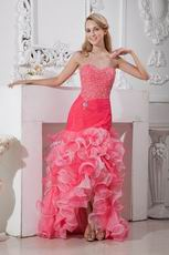 Find Sweetheart High Low Cheap Cocktail Prom Party Dress