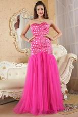 Classic Sweetheart Crystals Fuchsia Fomal Evening Dress