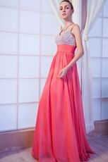 Cheap Spaghetti Straps Pink Dress Evening Party Wear