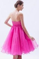 Allure Mini Fuchsia Graduation Dress For Girl Wear