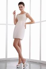 Decent Square White Short Homecoming Dress With Beading