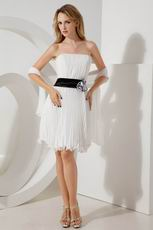 Strapless Ivory Knee Length Dress To Evening Wear