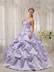 Strapless Lavender Embroidery Quinceanera Dress By Designer