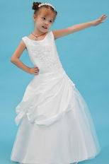 Affordable Scoop/Jewel Appliques Sequin Corset Flower Girl Dresses