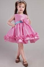 Rose pink princess scoop hand made flowers little girl dress mightylinksfo
