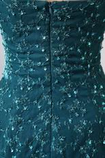 Beaded Lace Layers Skirt Peacock Blue Jacket Dress For Ocassion Prom Wear
