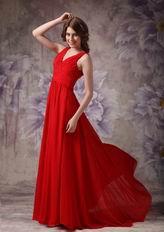 V-neck Dark Red Chiffon Zipper Otherside Best Prom Dress UK