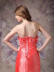 Strapless High Low Skirt Design Coral Pink Prom Dress For Sale
