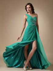 Sexy Split One Shoulder Skirt Buy Turquoise Prom Dresses Shop