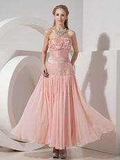 Ankle-length Blush 100D Chiffon Discount Prom Dress VvDress
