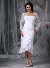 Layers Skirt Mother Of The Bride Dress With Lace Long Sleeves Modest