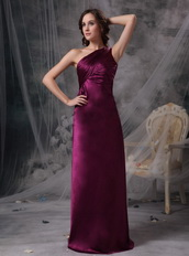 Purple One Shoulder Column Mother Of The Bride Dress Pretty Modest
