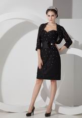 Black Lace Mother Of The Bride Dress And Jacket