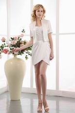 Sexy White Mother Of The Bride Short Dress With Jacket