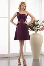 One Shoulder Purple Mother Of The Bride Beach Dress
