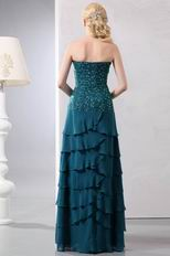 Beaded Strapless Layers Mother Of The Bride Dress With Jacket