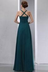 Decent Straps Floor Length Strong Blue Bridal Mother Dress