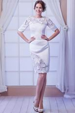 Modest 1/2 Length Sleeves Mother Wedding Party Dress