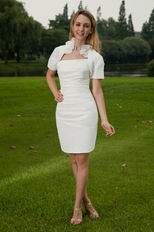 Strapless White Mother Of The Bride Dress With Jacket