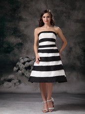 Black and White Ombre Layers Skirt Short Prom Dress 2014 Knee Length Sexy