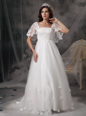 Angel Wing Designer Perfect Square Lace Bridal Dress Maternity Pregnant