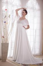 Maternity Wedding Dress With Butterfly Wings Design