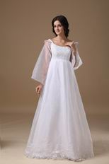 Long Sleeves Maternity Wedding Dress For Pregnant Wear