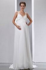 Designer Straps Ivory Maternity Wedding Dress For Discount