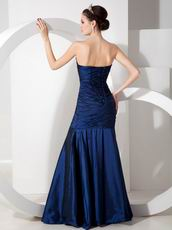 Peacock Blue Sweetheart Taffeta Dress To 2013 Prom Wear