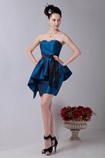 Affordable Dark Blue Taffeta Short Homecoming Dresses